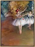 Bailarinas, cerca de 1877 Impressão em tela emoldurada por Edgar Degas