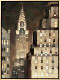 Manhattan Aglow Impressão em tela emoldurada por Paulo Romero
