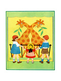Giraffes - Child Life Giclee Print by Hazel Frazee