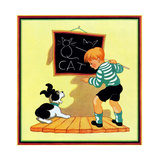 Dog Lesson - Child Life Giclee Print by Clarence Biers