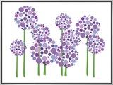 Allium roxo Impressão em tela emoldurada por  Avalisa