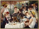 O almoço dos remadores Impressão em tela emoldurada por Pierre-Auguste Renoir