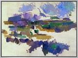 The Mont Sainte-Victoire, Seen from Lauves, 1905 Impressão em tela emoldurada por Paul Cézanne