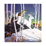 Winter Deer - Child Life Giclee Print by Jack Murray
