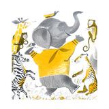 Ethan the Elephant - Child Life Giclee Print