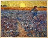 The Sower, c.1888 Impressão em tela emoldurada por Vincent van Gogh