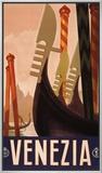 Veneza, cerca de 1920 Impressão em tela emoldurada