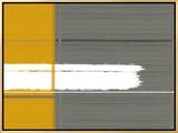 Grey and Yellow Impressão em tela emoldurada por  NaxArt