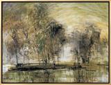 Willows in Morning Wind Impressão em tela emoldurada por Wanqi Zhang