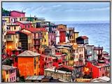 Scenes from Cinque Terra, Italy 額入りキャンバスプリント : リチャード・デュバル