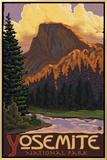 Half Dome, Yosemite National Park, California Impressão em tela emoldurada por  Lantern Press