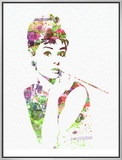 Audrey Hepburn 2 Impressão em tela emoldurada por  NaxArt