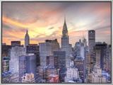 Midtown Skyline with Chrysler Building and Empire State Building, Manhattan, New York City, USA Impressão em tela emoldurada por Jon Arnold