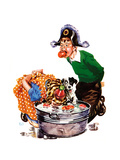 Bobbing for Apples - Child Life Giclee Print by Keith Ward