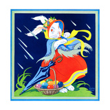 Rainy Easter Greetings - Child Life Giclee Print by Matilda Breuer