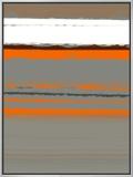 Abstrato laranja 2 Impressão em tela emoldurada por  NaxArt