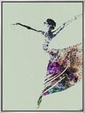 Ballerina Watercolor 3 Framed Canvas Print by  NaxArt