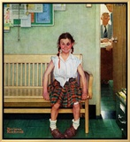 """Shiner"" or ""Outside the Principal's Office"", May 23,1953 Framed Canvas Print by Norman Rockwell"
