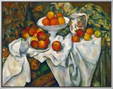 Apples and Oranges Framed Canvas Print by Paul Cézanne
