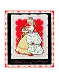 Valentine Greetings - Child Life Giclee Print by Hazel Frazee