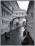 Bridge of Sighs, Doge's Palace, Venice, Italy Impressão em tela emoldurada por Jon Arnold