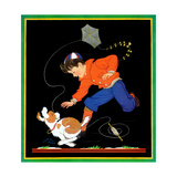 Runaway Kite - Child Life Giclee Print by Clarence Biers