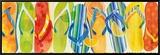 Flip Flop Collection Impressão em tela emoldurada por Mary Escobedo