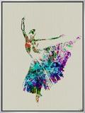 Ballerina Watercolor 5 Framed Canvas Print by  NaxArt