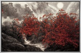 Autumn Mist Framed Canvas Print by Baogui Zhang