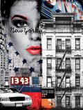 Ville de la mode Poster par  Blonde Attitude