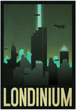 Londinium Retro Travel Poster Plakater