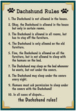 Dachshund House Rules Posters