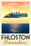 Fhloston Paradise Retro Travel Poster Affiches