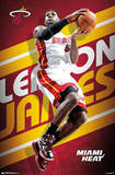 LeBron James Miami Heat Pôsteres