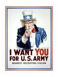 I Want You for the U.S. Army Metalltrykk av James Montgomery Flagg