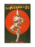 The Tin Man from The Wizard of Oz Metalltrykk