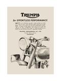 Triumph of Effortless Performance Metalldrucke
