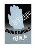 Stop Doing Drugs Kunst på metal