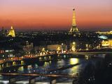 Eiffel Tower and River Seine, Paris, France Art sur métal  par Walter Bibikow