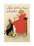 Lait Pur de la Vingeanne Sterilise Metalldrucke von Théophile Alexandre Steinlen