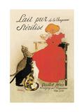 Lait Pur de la Vingeanne Sterilise Metal Print by Théophile Alexandre Steinlen