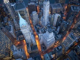 Vue aérienne de Wall Street, New York Art sur métal  par Cameron Davidson