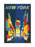 Travel Poster, New York City Metal Print