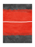 Grey and Red Abstract 2 Metal Print by  NaxArt