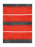 Grey and Red Abstract 3 Metal Print by  NaxArt