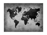 World  Map 8 Metal Print by  NaxArt