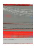 Abstract Red 2 Metalldrucke von  NaxArt