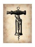 Vintage Wine Opener 4 Metal Print by  NaxArt
