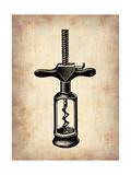 Vintage Wine Opener 3 Metal Print by  NaxArt