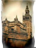 The Giralda Tower and the Cathedral (South-East View), Seville, Spain Metalltrykk av Felipe Rodriguez